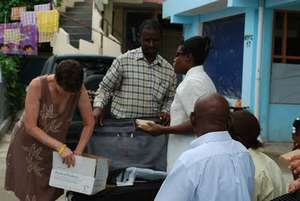 Unpacking materials for the blind school
