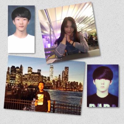 1st row: Mingyu, Eunbi; 2nd row: JD, Chambit