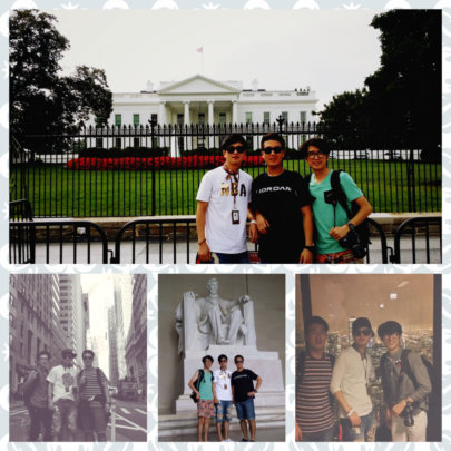 Jaeho, Minyeal and JD had a great trip in the US