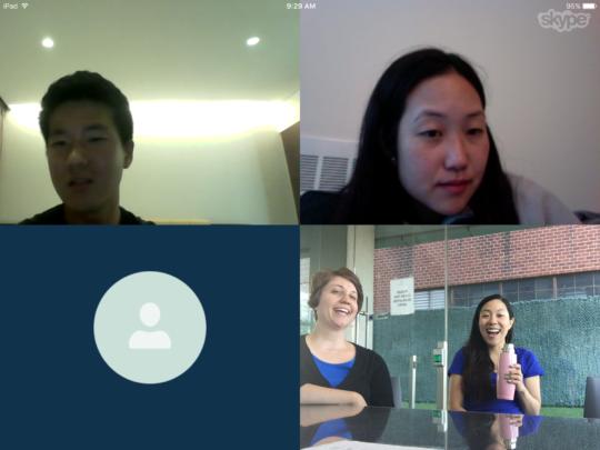 JinDong meets the KKOOM Board via Skype in July