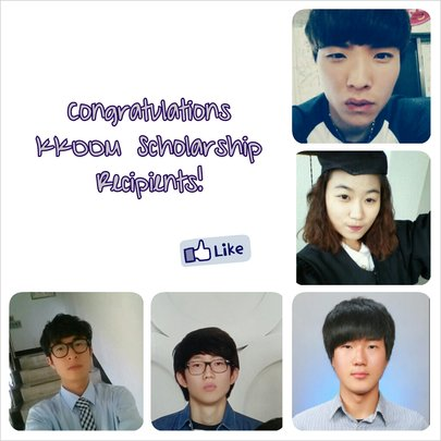 Fall 2013 KKOOM College Scholarship Recipients