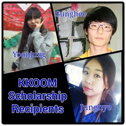 2014 KKOOM Scholarship Recipients