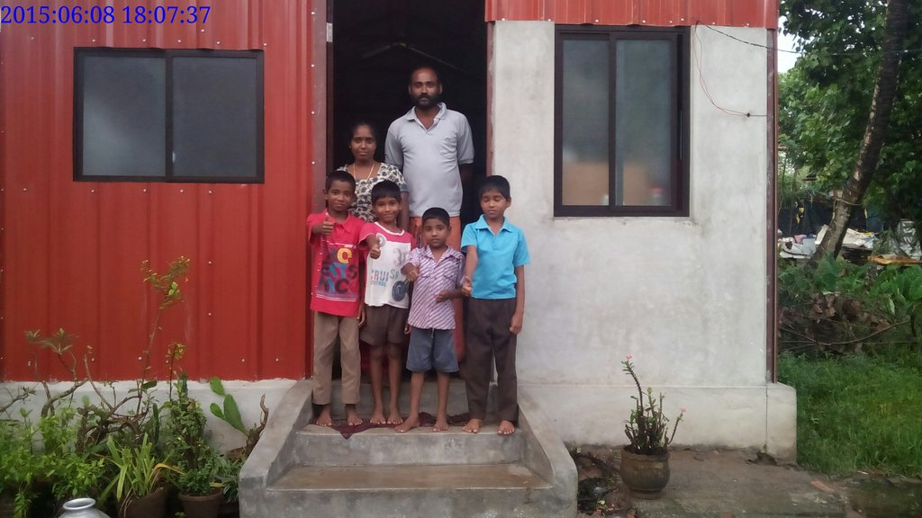 We have completed 12 homes in Santhom Slum, India