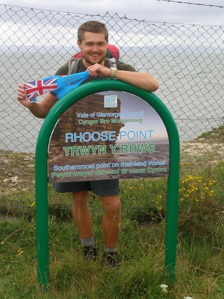 Owen walked around Wales for Fiji!