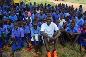 Julius Speaks to Orum Primary - His Former School