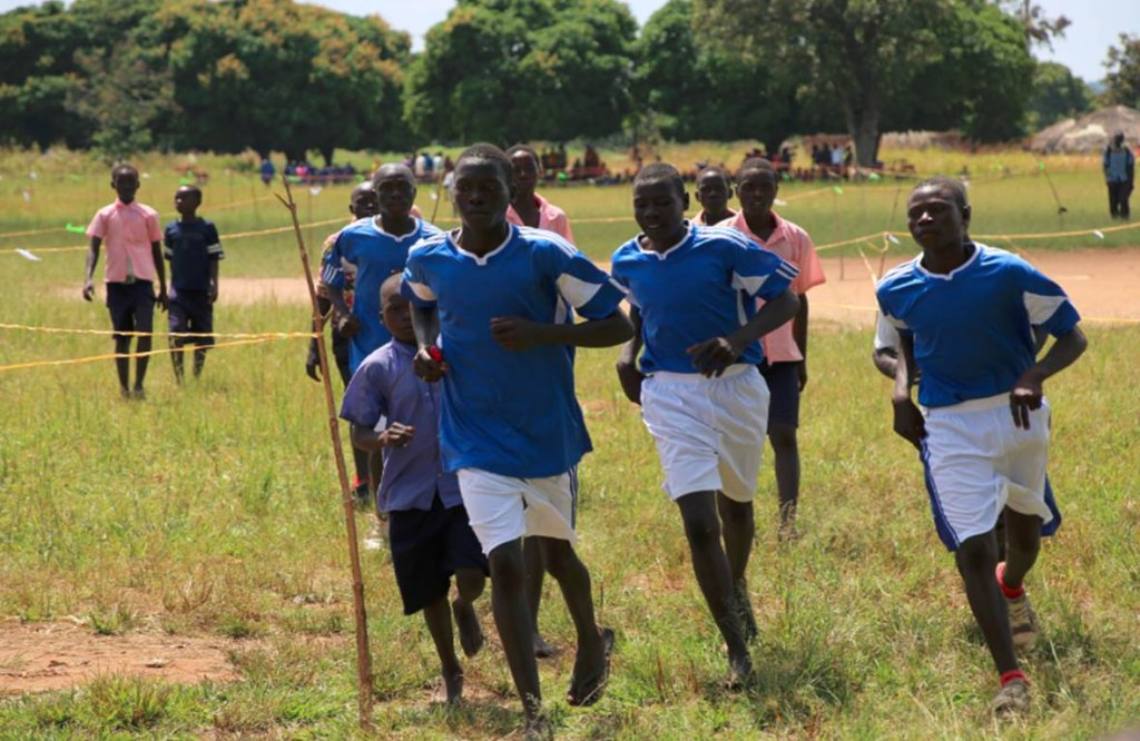 Local children competing in our annual run