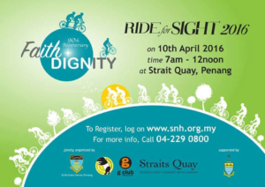 Advertisement of Ride For Sight 2016