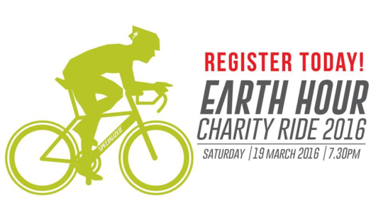 """Advertisement of  """"Earth Hour"""" Charity Ride 2016"""