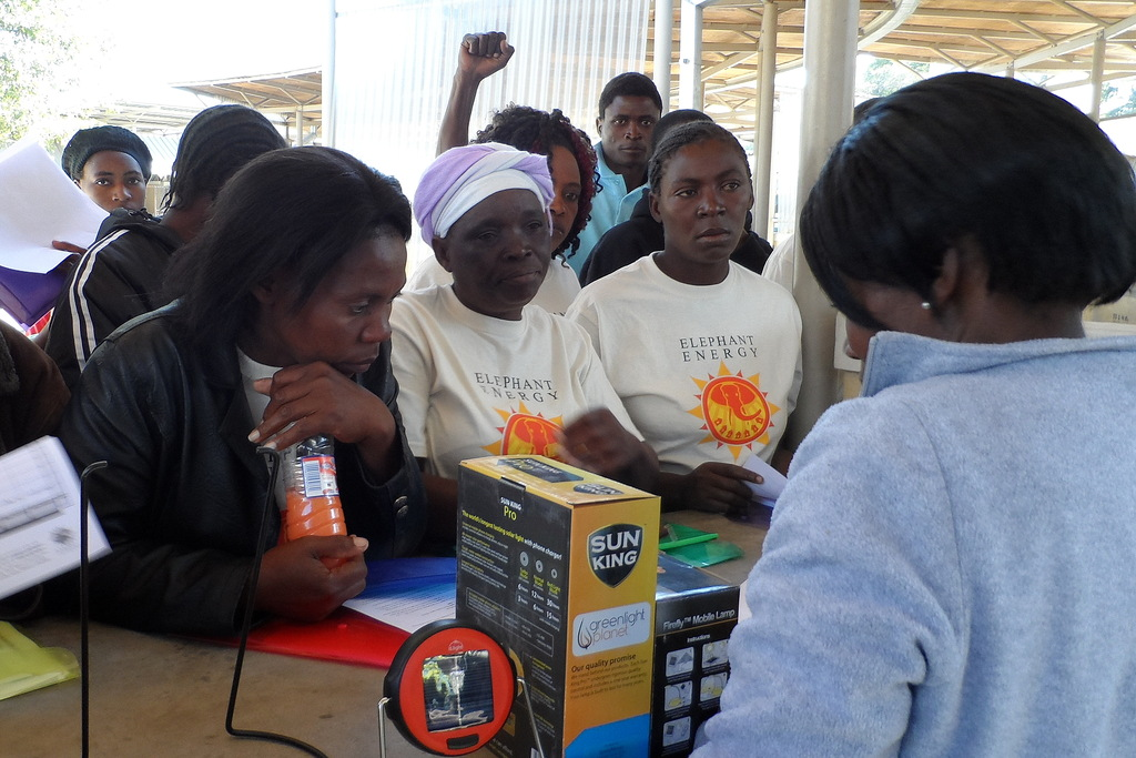Saleswomen Training at the Energy Shop