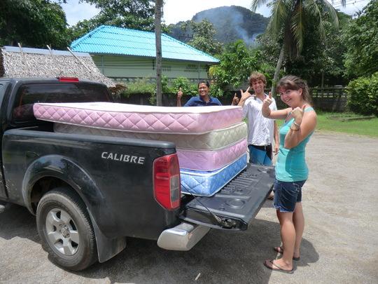 Mattresses being delivered