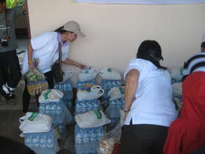 Food rations for displaced families