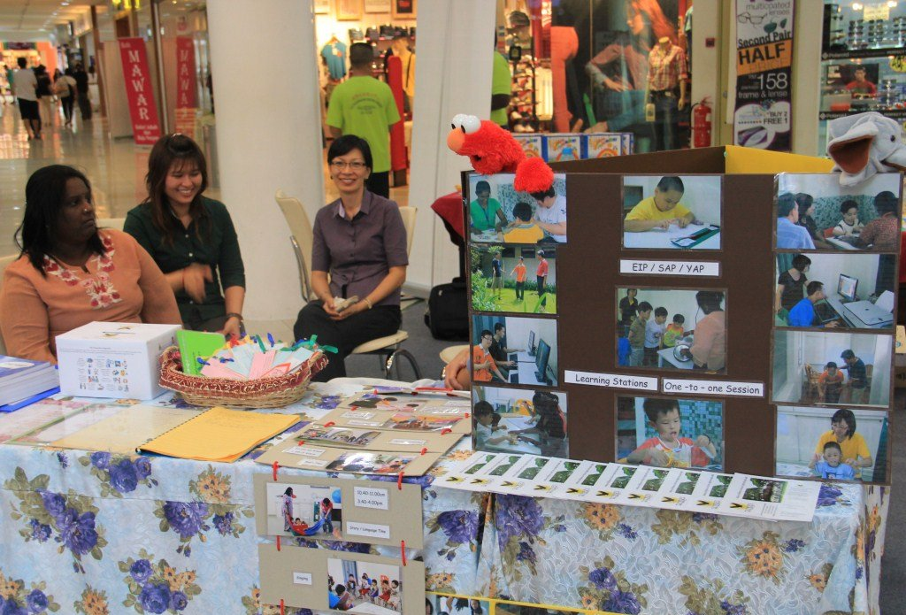 Wings Melaka at a CSR event in a shopping mall