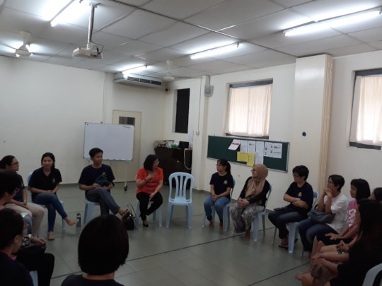 Sharing during Parents Support Group