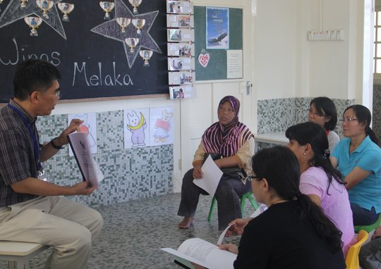 Parents were briefed on the first day of school.