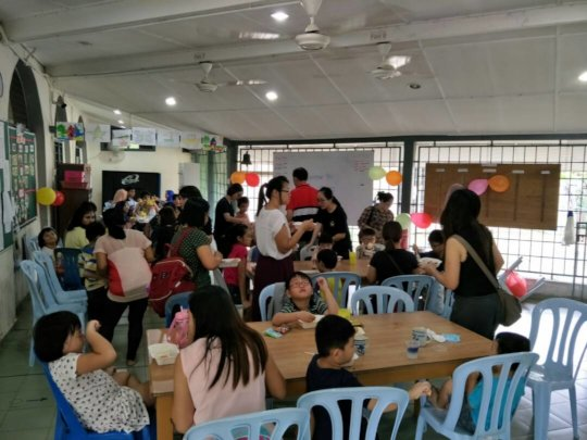 Cafe in operation during Fun Day