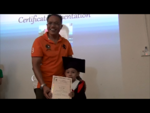 Certificate Presentation to Graduating Students