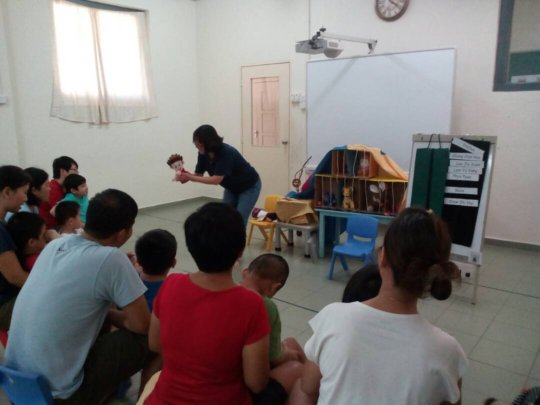 EIP during storytime about the zoo
