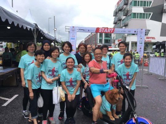With our Chairman at Giving is Living Charity Run