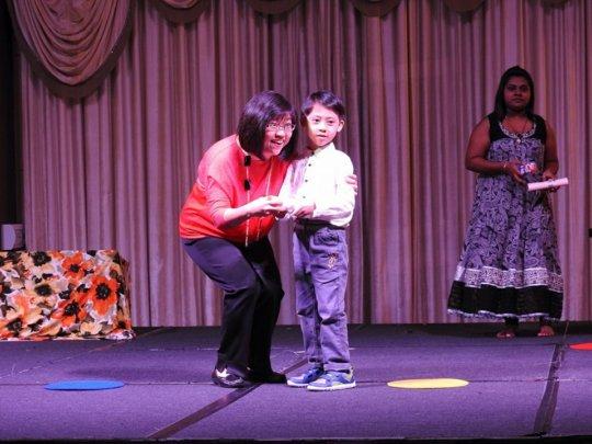 Graduation certificate presentation to a student