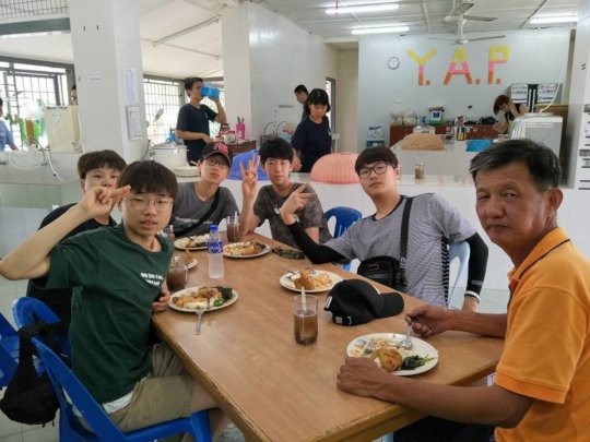 Some youths from Korean Youth Mission Team