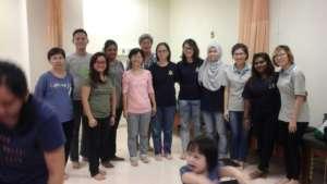Staff attending talk at Mahkota Medical Centre