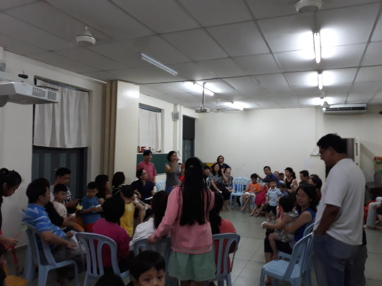 Parents at the coffee session