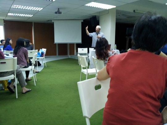 Mr Deller during the workshop