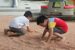 SAP: Students enjoying playing with sand