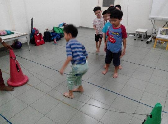 SAP playing jump rope