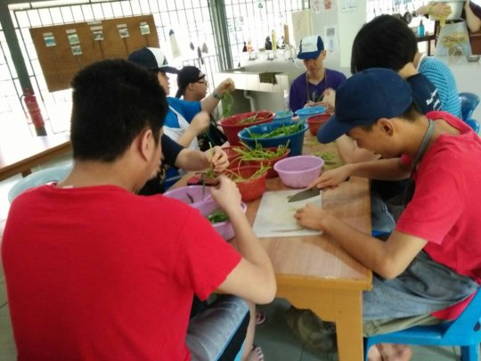 YAP during lunch preparation