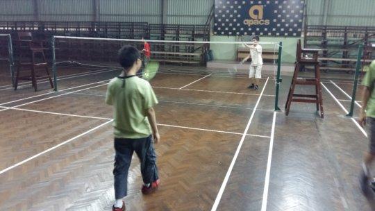 YAP playing badminton