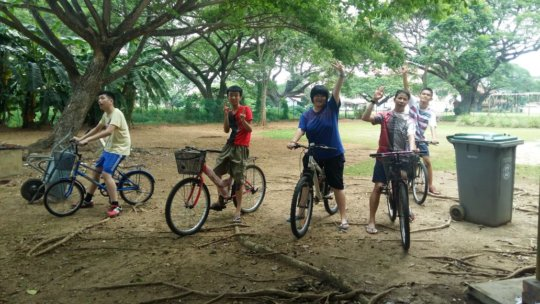 YAP during one of their cycling sessions