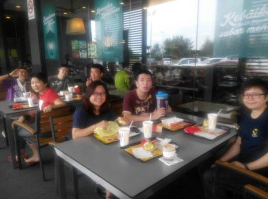 YAP at their McDonald's lunch outing