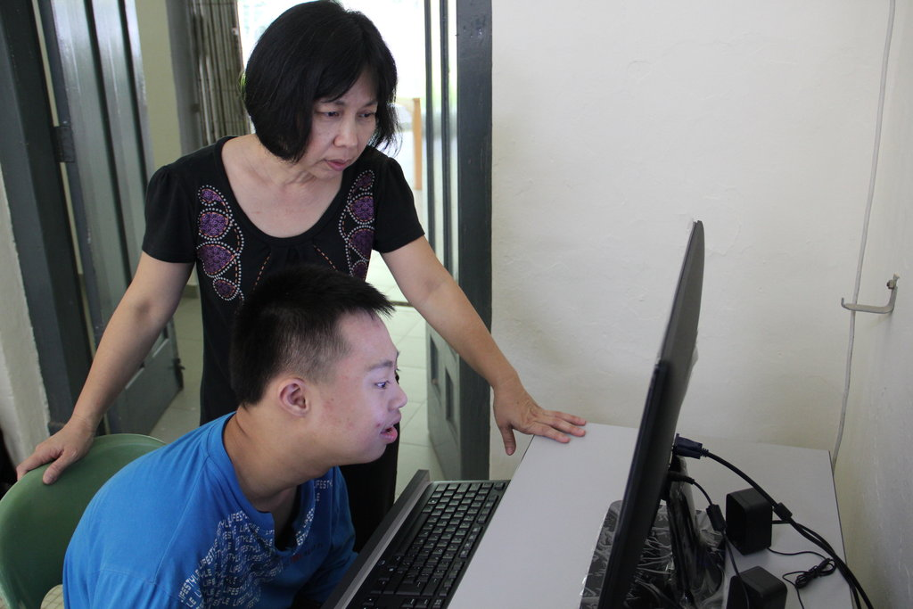 YAP classes include sessions at the computer.