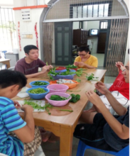 YAP trainees preparing lunch