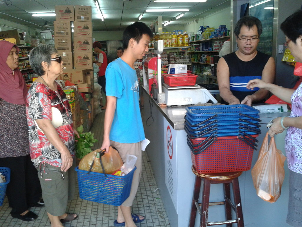 YAP trainees buying groceries