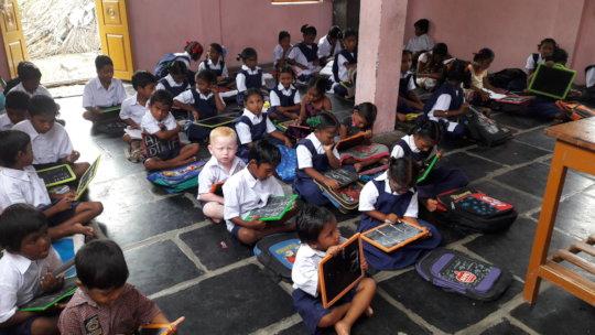 children in the class room