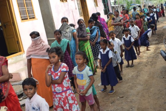 Children and their families receiving relief