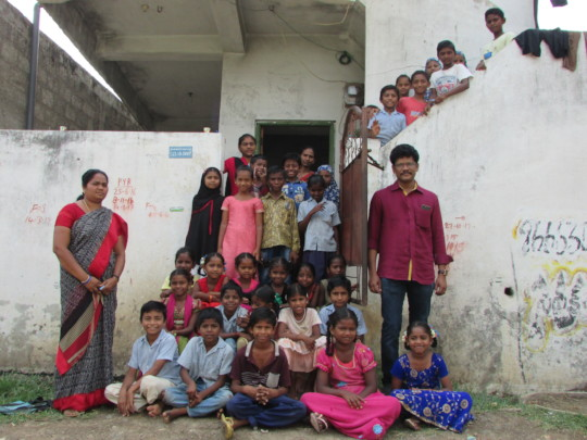 Children, staff and Project Leader