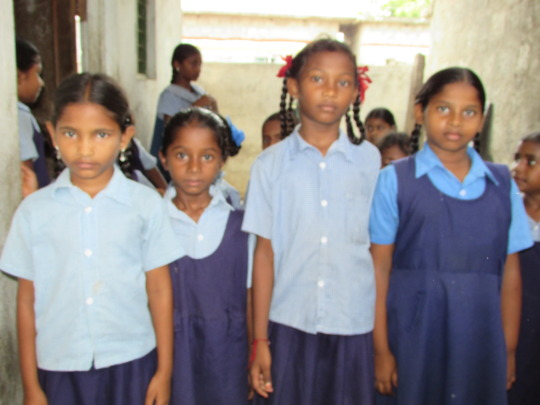 some of the children in school