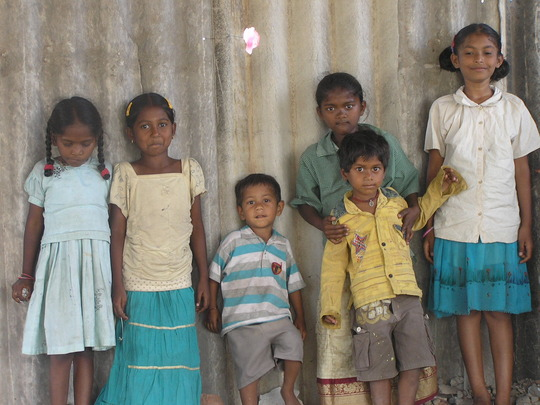 Some of the children from Sundarayya Colony centre