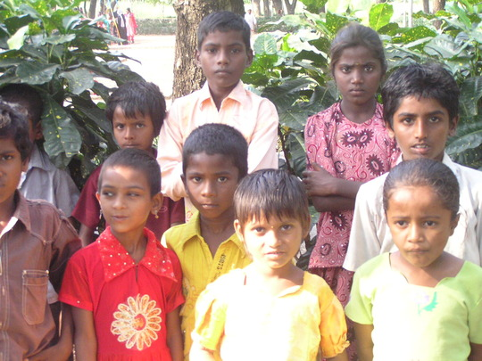 Some of the children in KVP colony centre