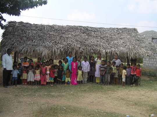 New centre at Dasripalem children and staff