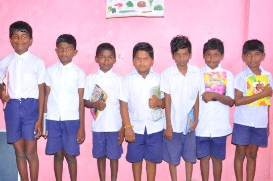 Children from Lingayapalem slum school