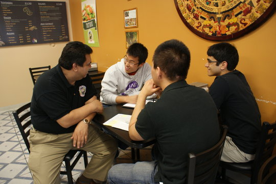 LEND staff working with a local restaurant