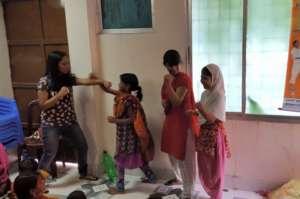 Teaching children karate moves