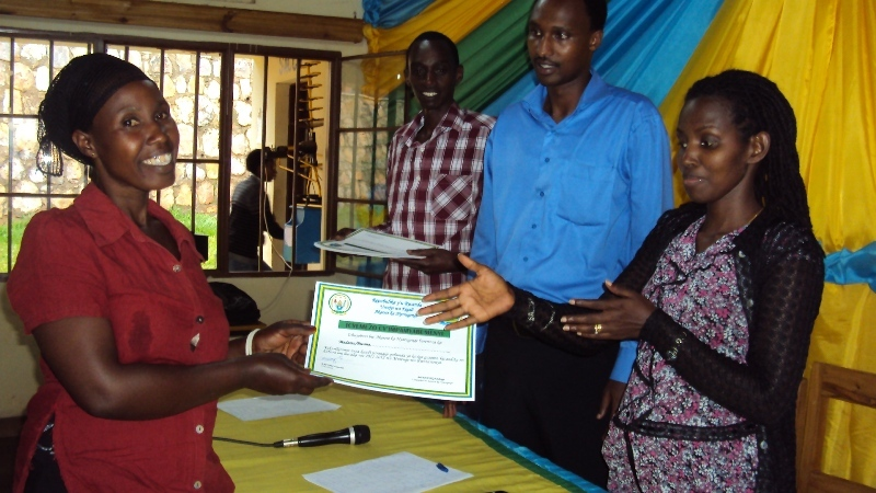 Certificate given by the Global Grassroots Manager