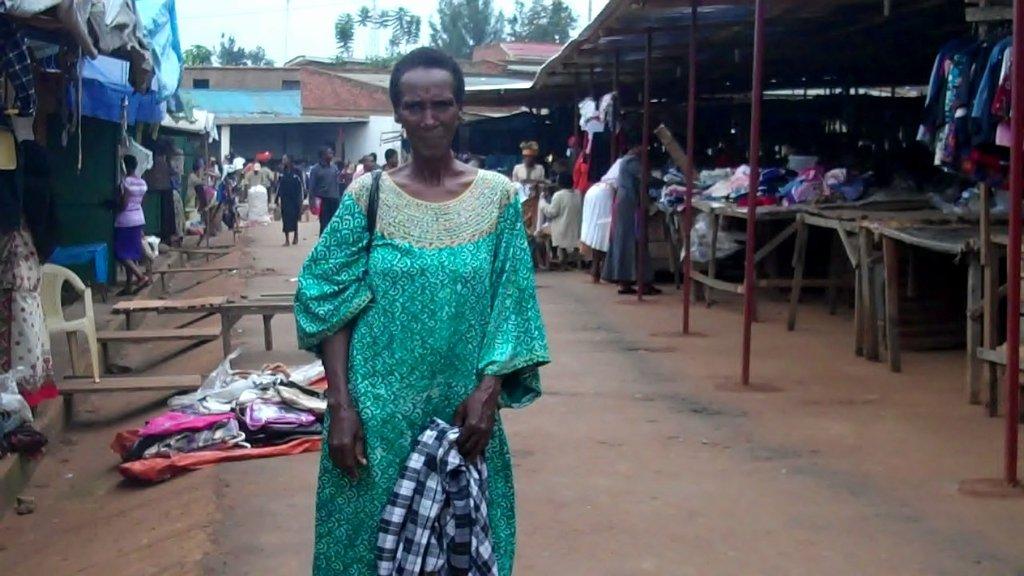 Mary Mukahigiro at the market