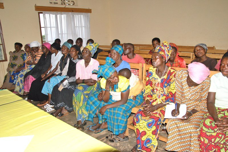 The women waiting to receive their certificates