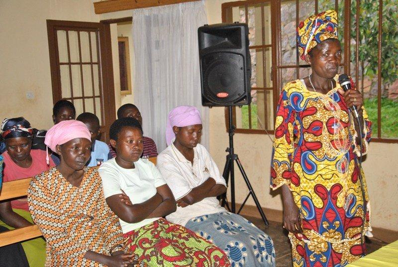 Nyirangwabije Bellancille giving her testimonial